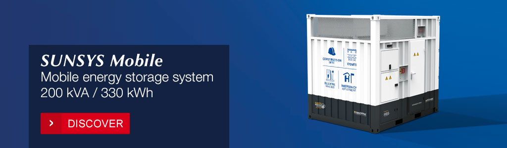 SUNSYS Mobile: Mobile Energy Storage System Zero-emission