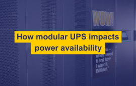 How Modular UPS impacts Power Availability